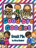 End of Year Snack Mix - Good-bye Goodies {Fun Poem} and {Bag Toppers}