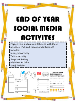 End of Year Social Media Activities