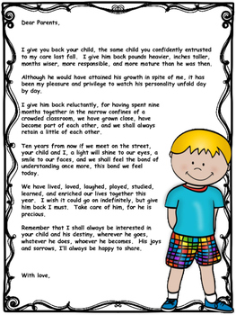End of Year Letter for Parents