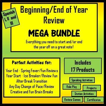 Spanish Review Materials - MEGA Bundle