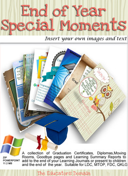 EYLF End of Year Special Moments Editable Pack
