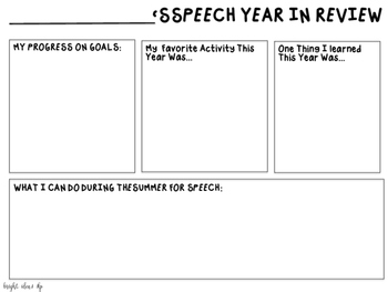 End of Year Speech Activity: A Year in Review