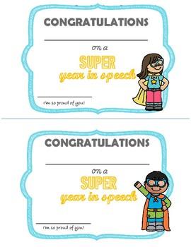 End of Year Speech Awards