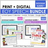 End of Year Speech Bundle- Color Paper Friendly