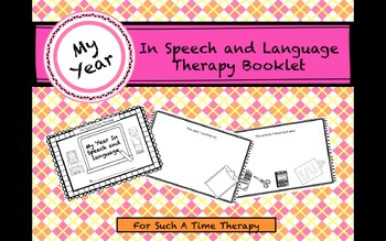 End of Year Speech and Language Therapy Booklet
