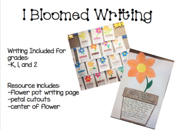 End of Year Spring Writing Craftivity