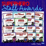End of Year Staff Awards, Banner & Gifts - Superhero Theme