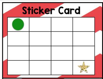 Editable Sticker Card Behavior Incentive