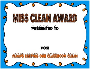 End of Year Student Award Certificates