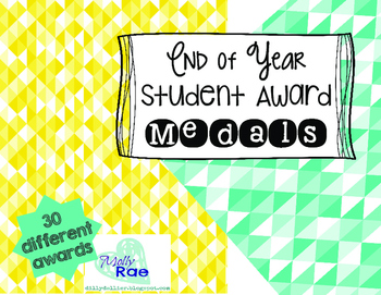 End of Year Student Award Medals *Editable*