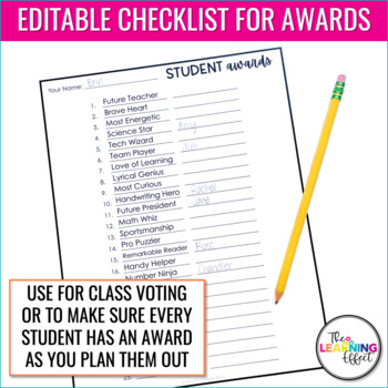 Student Awards | Editable Templates