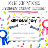 End of Year Student Awards: Candy Themed