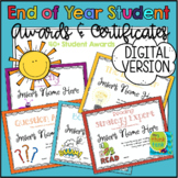 End of Year Student Awards & Certificates | Digital Learni