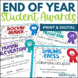 Editable End of the Year Student Awards - Print & Digital