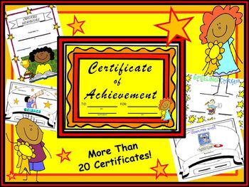 Student Awards (Choose from 26 Certificates!)