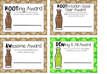 End of Year Student Awards Soda Pop Style