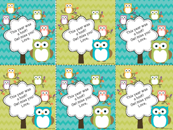 End of Year Student Cards FREEBIE!