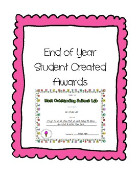 End of Year Student Created Awards