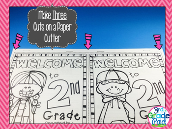 """End of Year Activities: Student-Created """"Welcome"""" Print & Go Booklet for K-5"""