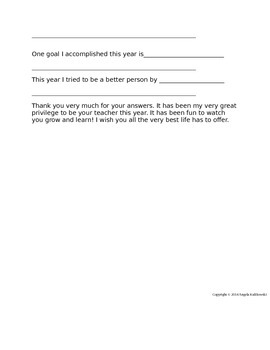 End of Year Student Feedback Survey