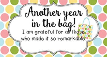 End of Year Student Gift Tag | Another year in the bag!