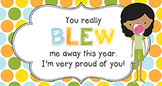 End of Year Student Gift Tag | You Blew Me Away