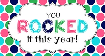 End of Year Student Gift Tag | You rocked it!