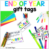 End of Year Student Gift Tags - Editable