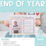 End of Year Student Letter for Student Gift