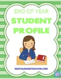 End of Year Student Profile Data Sheet *FREE*