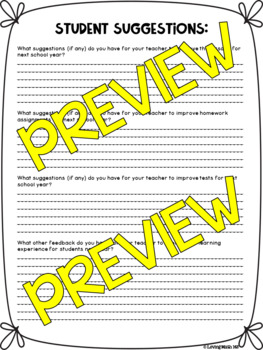 End of Year - Student Reflection & Feedback Survey