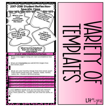 End of Year Reflection & Memories |  Printable & Digital  |  DISTANCE LEARNING