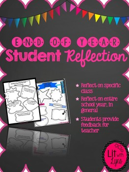 End of Year Student Reflection Infographic