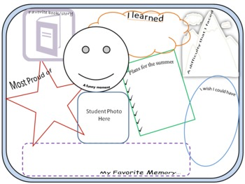 """""""End of Year"""" Student Reflection Printable (Grade 4-8)"""