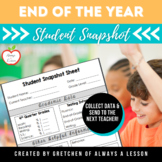 End-of-Year: Student Snapshot Sheet [Digital & Editable]