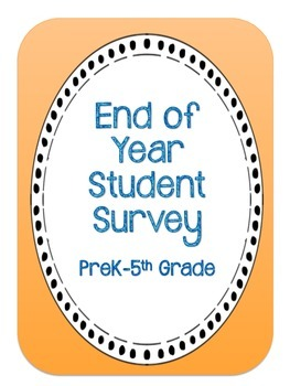 End of Year Student Survey with Photo