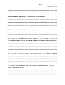 End of Year Student Writing Reflection