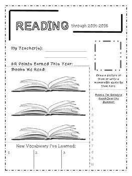End of Year: Subject Recap Pages