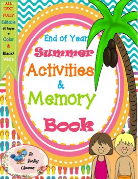 End of the Year Activities and Memory Book