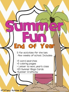 End of Year - Summer Activities