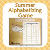 End of Year Summer Alphabetizing Game