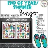 End of Year Summer Bingo   Game   Distance   Digital & Pri