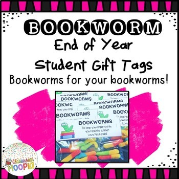 End of Year Summer Bookworm Gift Tags *Editable*