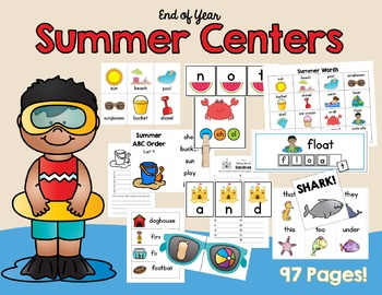 End of Year Summer Centers - ELA Centers To Get You Through The Last Weeks!