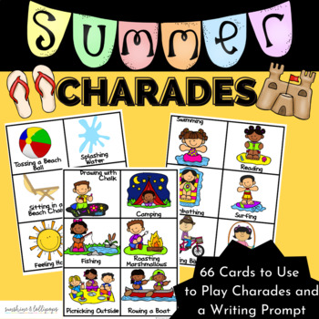 Summer Charades Brain Breaks or a Fun Game