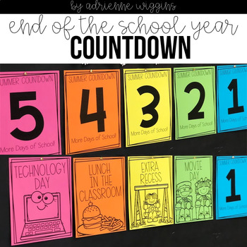 End of Year Summer Countdown Activities