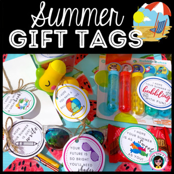 End of Year Summer Gift Tags