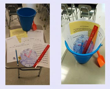 End of Year Summer Learning Buckets! (Editable!!)