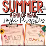 Summer Math Logic Puzzles for Grades 3-5
