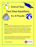 End of Year ( Summer ) Math Puzzles - Two Step Equations